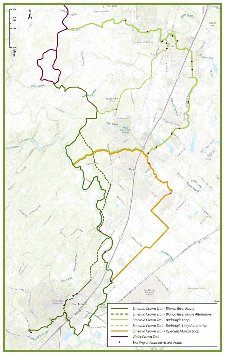 emerald crown trail map